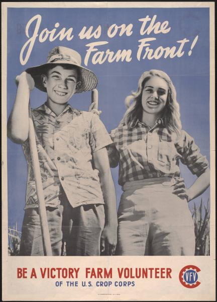 'Join us on the Farm Front!' poster