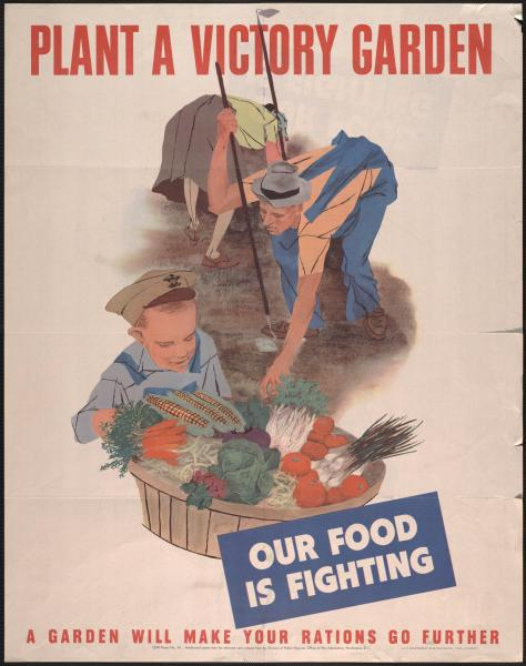 'Plant a Victory Garden' poster