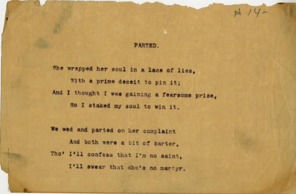 'Parted' poem