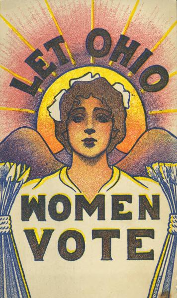 'Let Ohio Women Vote' postcard
