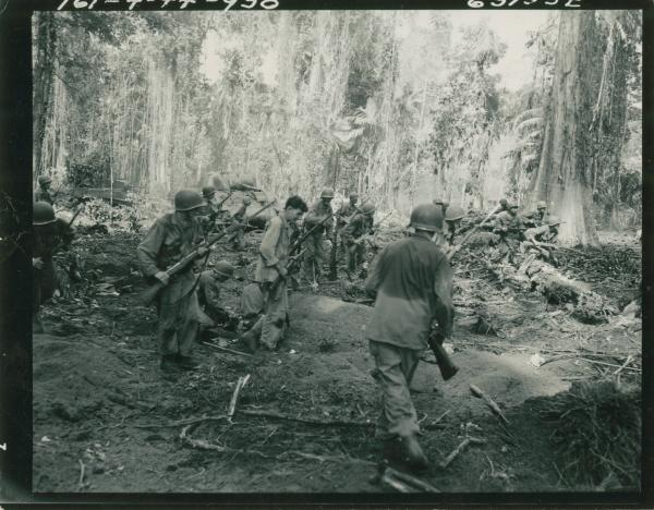 37th Infantry Division soldiers on Bougainville