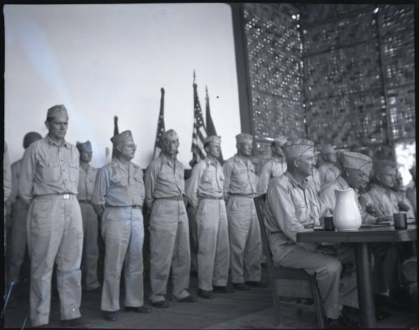 Soldiers at attention photograph