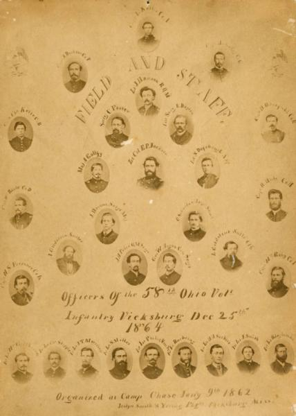 Officers of the 58th Ohio Volunteer Infantry