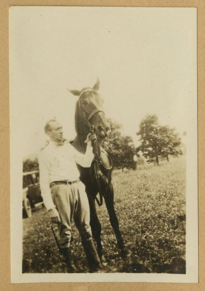 Jim and horse photograph