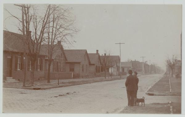 German Village residential street photograph