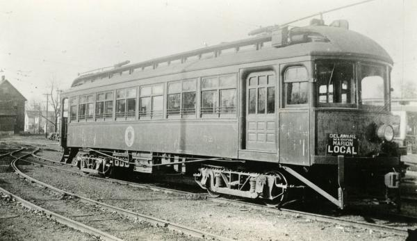 Early electric railway car