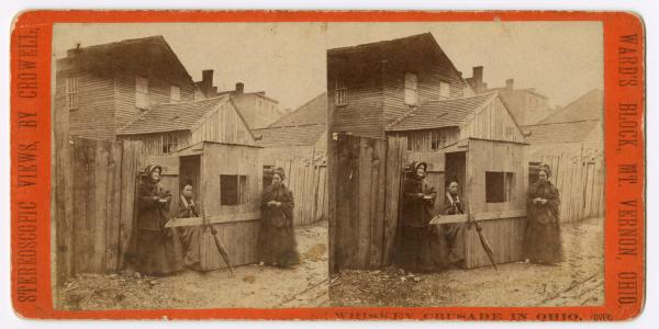 Whiskey Crusade in Ohio stereograph