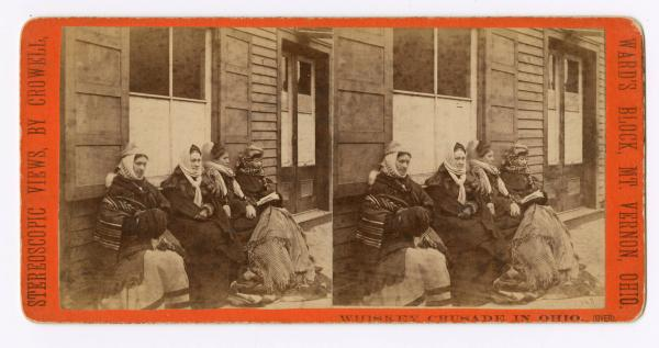 Whiskey Crusaders in winter stereograph