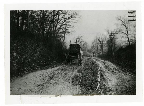 Carriage on unpaved National Road photograph
