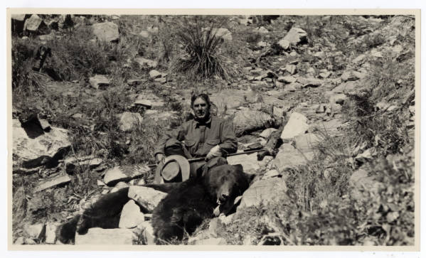 Zane Grey and bear photograph