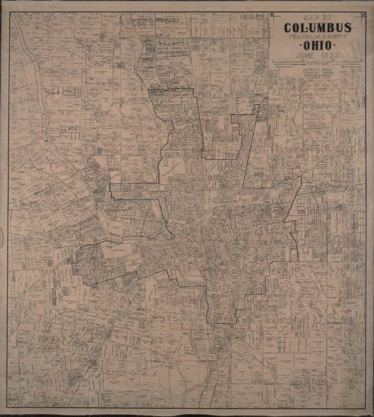 Columbus and Franklin County map