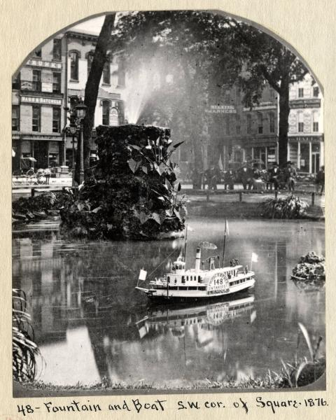Cleveland Square pond photograph