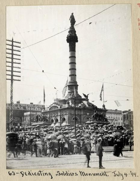 Soldiers' and Sailors' Monument dedication