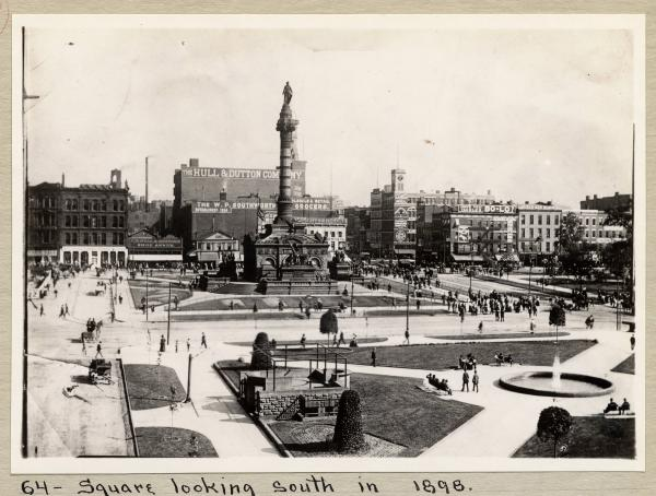 Cleveland Square in 1898 photograph