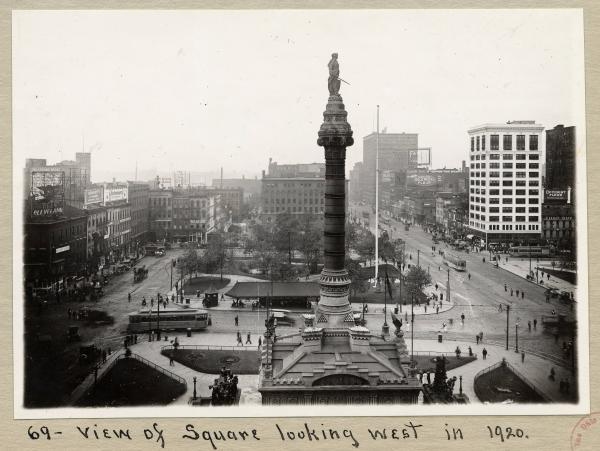 Cleveland Square in 1920 photograph