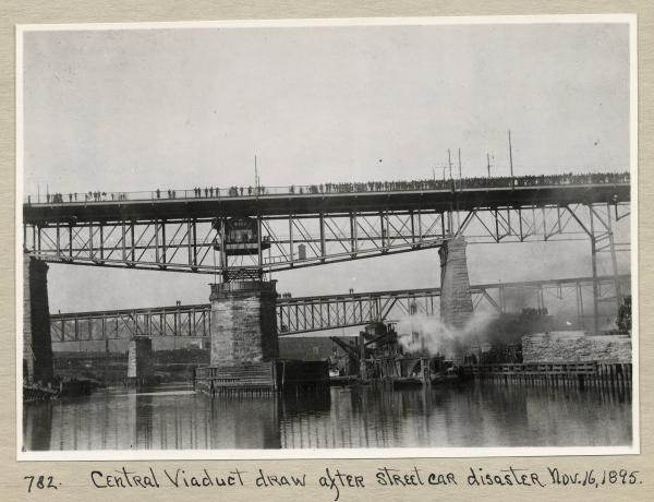 Central Viaduct after Cleveland streetcar disaster