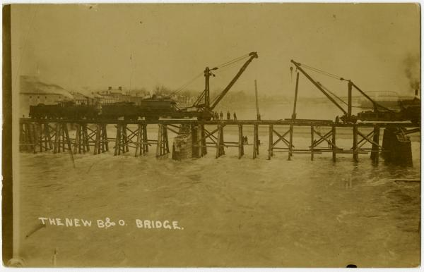 B&O Bridge in Zanesville photograph