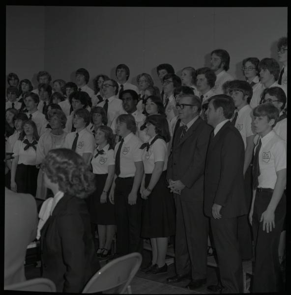 Choir performing during Rhodes inauguration