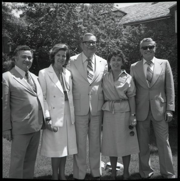 Governor James Rhodes with guests