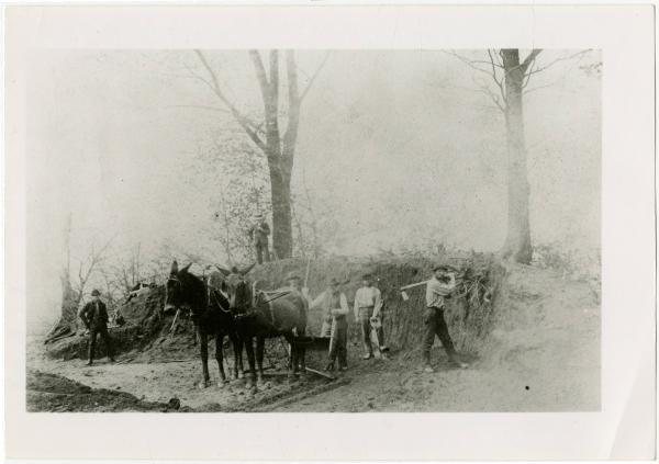 Work crew at Fort Ancient photograph