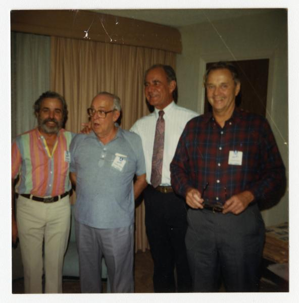 Four crew members at 94th Bombardment Group reunion