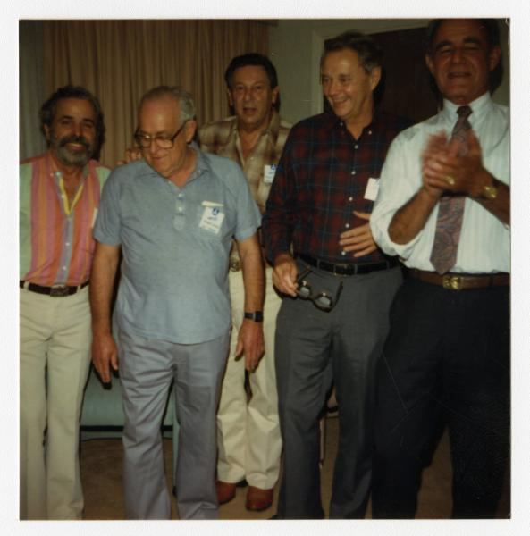 Five crew members at 94th Bombardment Group reunion
