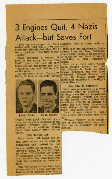 '3 Engines Quit, 3 Nazis Attack--but Saves Fort' article