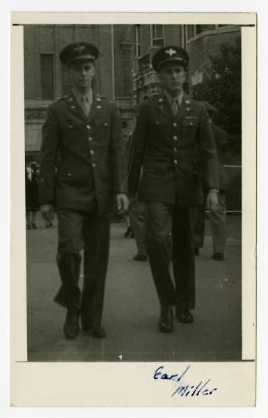 C. Walder Parke with a fellow Army Air Forces member