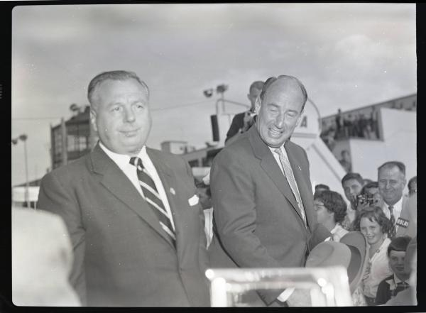 Adlai Stevenson and Michael Disalle photograph