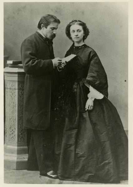 William Dean Howells and wife portrait