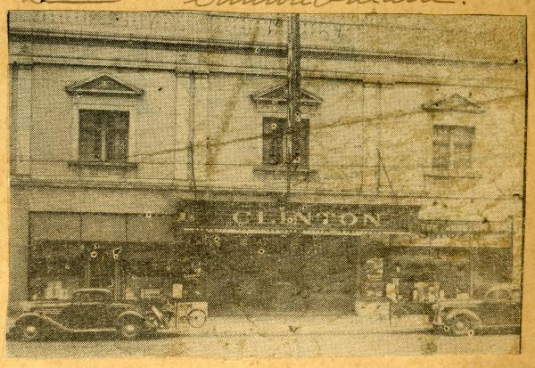 Clinton Theater newspaper clipping