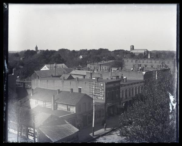 South Main Street from atop the Billhardt Building photograph