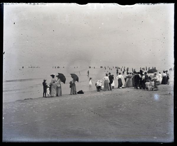 Large number of people at a beach