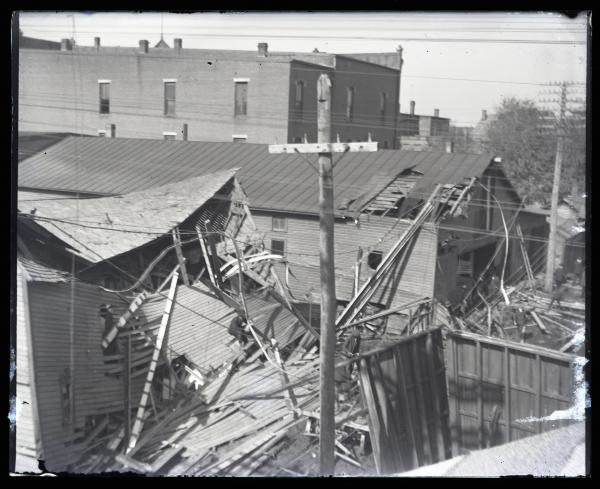 Building collapse photograph