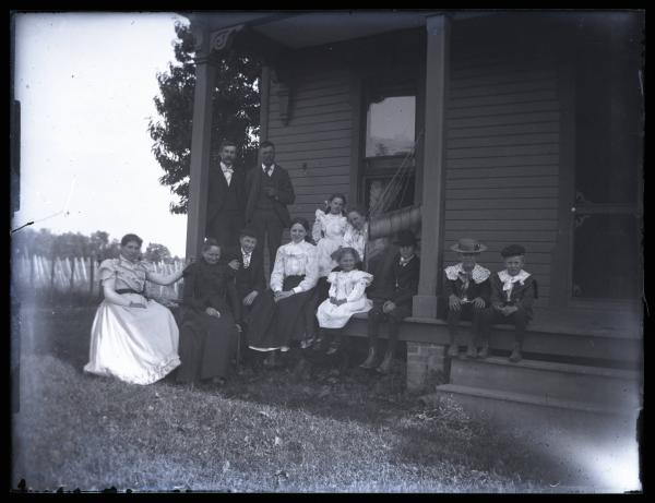 Kinley family at Truman Case home