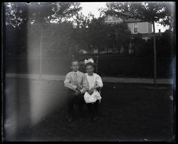 Two children at Dr. Walton's