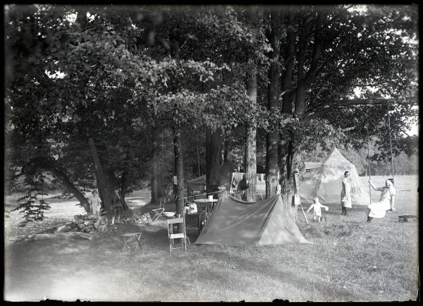 Camping with the Miners photograph