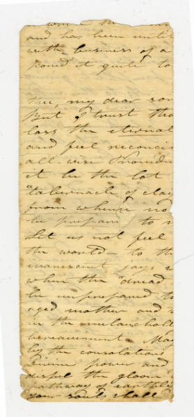 Benjamin Lundy letter to son