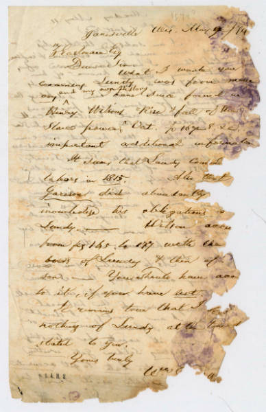 William Goodall letter to Z. Eastman, May 1874