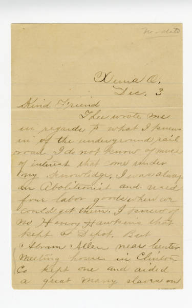 J.C. Painter letter to Benjamin Lundy