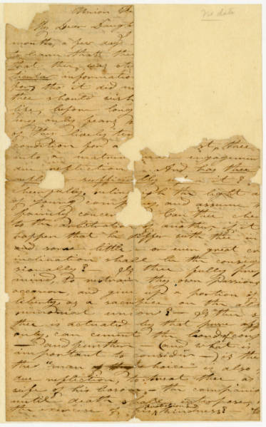 Benjamin Lundy letter to daughter