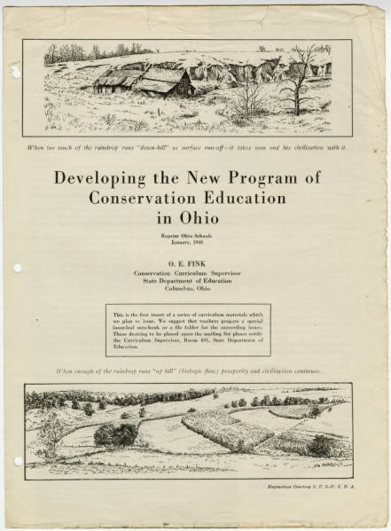 'Developing the New Program of Conservation Education in Ohio' curriculum brief