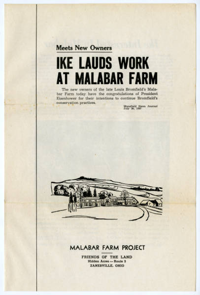'Ike Lauds Work at Malabar Farm' pamphlet
