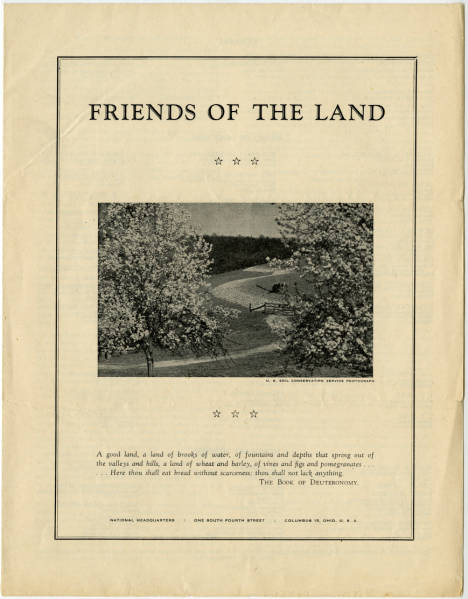 'Friends of the Land' promotional leaflet