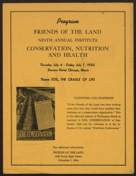9th Annual Institute on Conservation, Nutrition and Health program