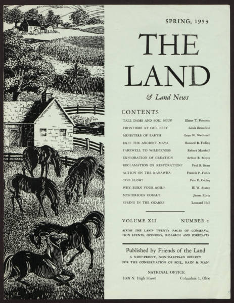 'THE LAND' magazine informational advertisement