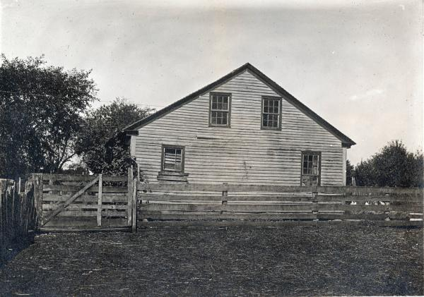 Building on Keller farm photograph