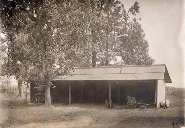 Storage building on Farnsworth farm photograph