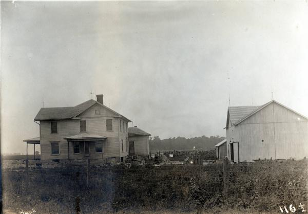 Buildings on Biddinger farm photograph