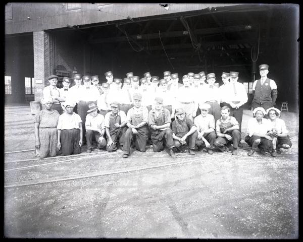 Railway workers group portrait